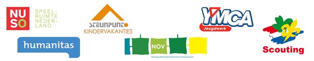 Scouting, Humanitas, NOV, YMCA, Steunpunt Kindervakanties, NUSO