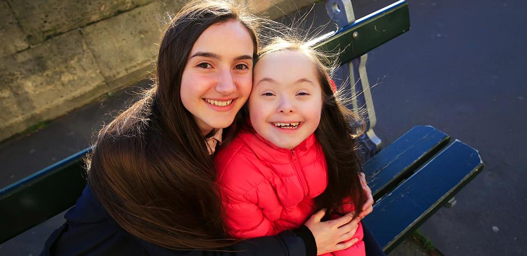Moeder met gehandicapte dochter