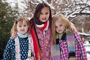 Kids in sneeuw