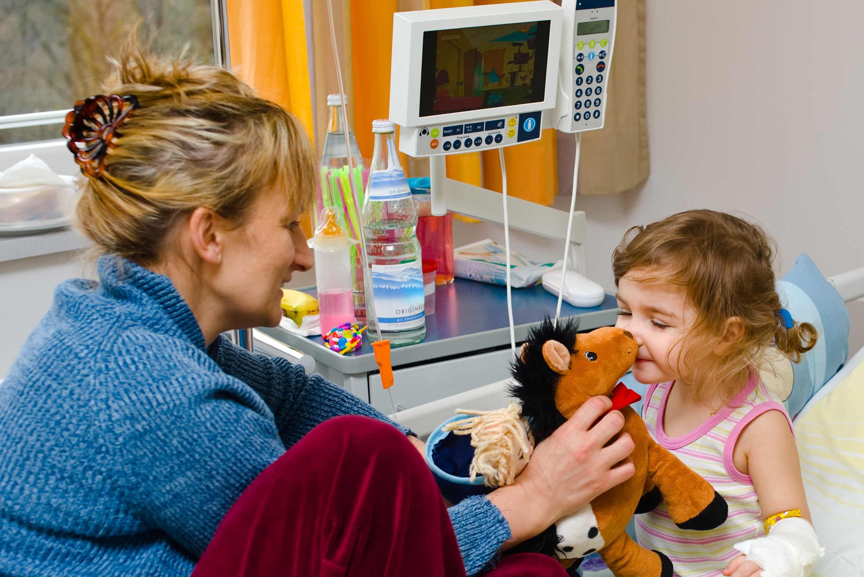 Kindje opgenomen in ziekenhuis