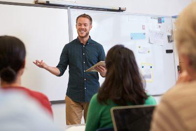 Docent leraar voor de klas