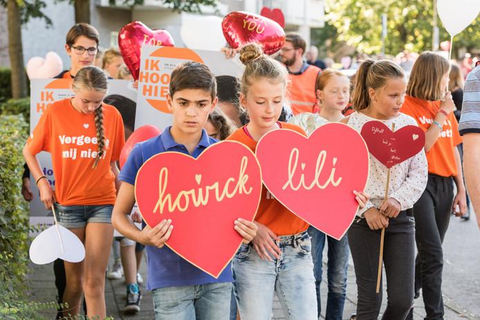 Kinderprotest tegen uitzetting Armeense kinderen